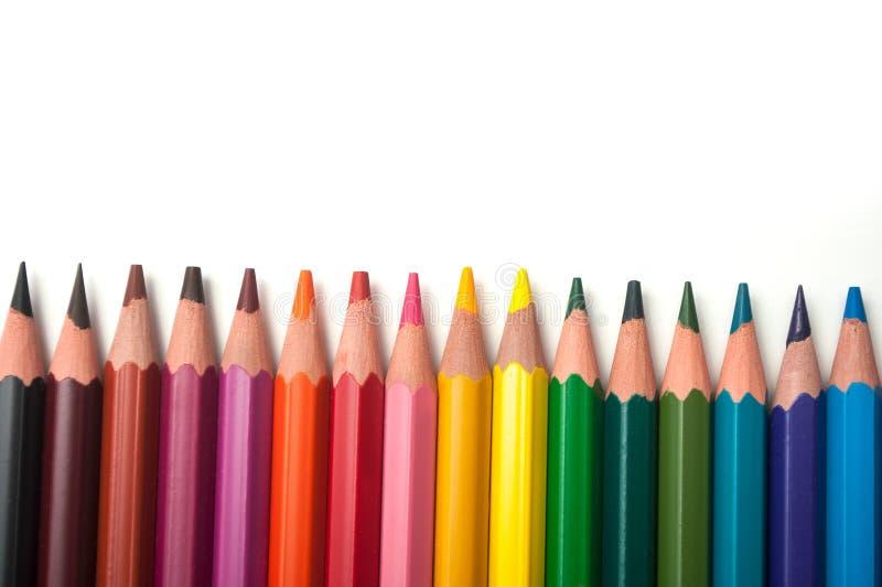 Koloryt ołówki ustawiający na białym tle zdjęcie royalty free