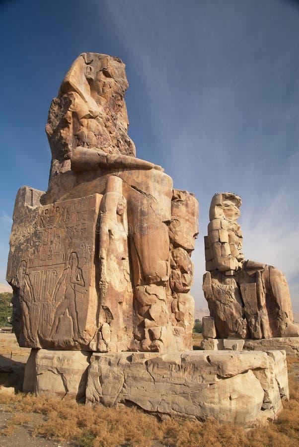 Koloss av Memnon arkivfoton