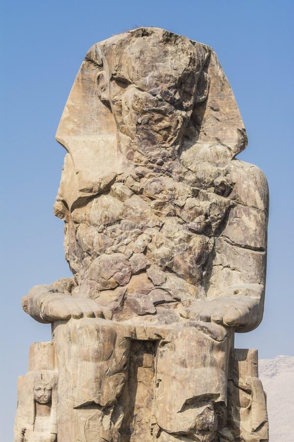 Koloss av Memnon, staty av farao Amenhotep III, Luxor royaltyfria bilder