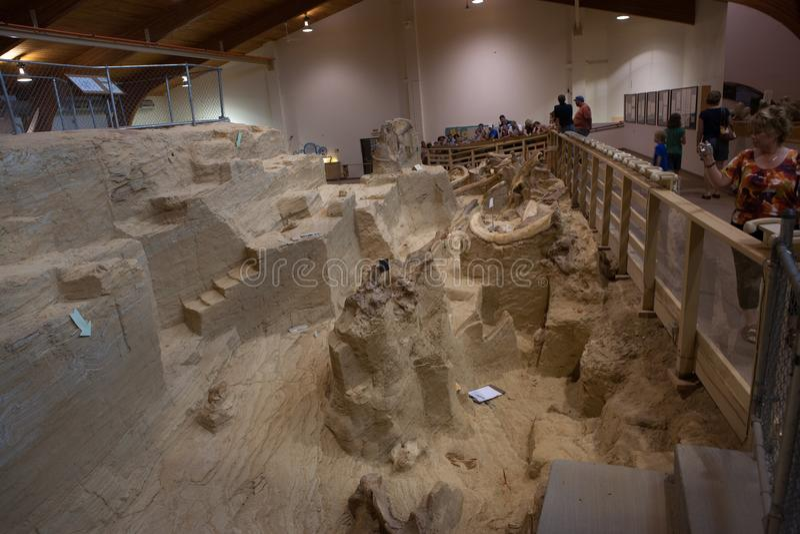Kolossal plats av Hot Springs, South Dakota arkivfoto