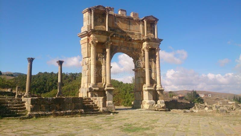 Kolossal romanian port fotografering för bildbyråer