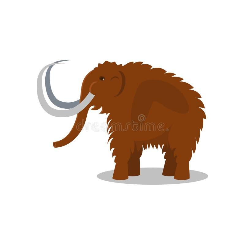 Kolossalt slocknat djur av illustrationen för vektor för stenålder på en vit bakgrund vektor illustrationer