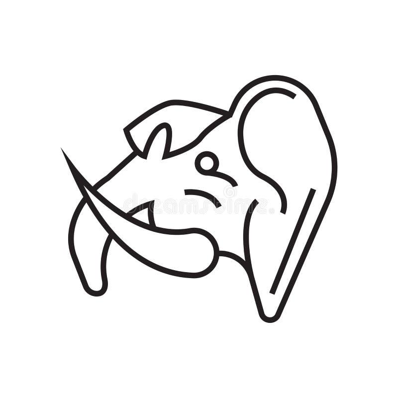 Kolossalt symbolsvektortecken och symbol som isoleras på vit bakgrund vektor illustrationer