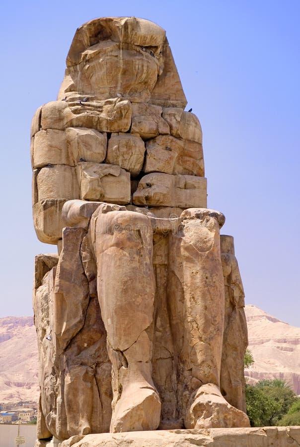 Kolosse von Memnon stockfotos