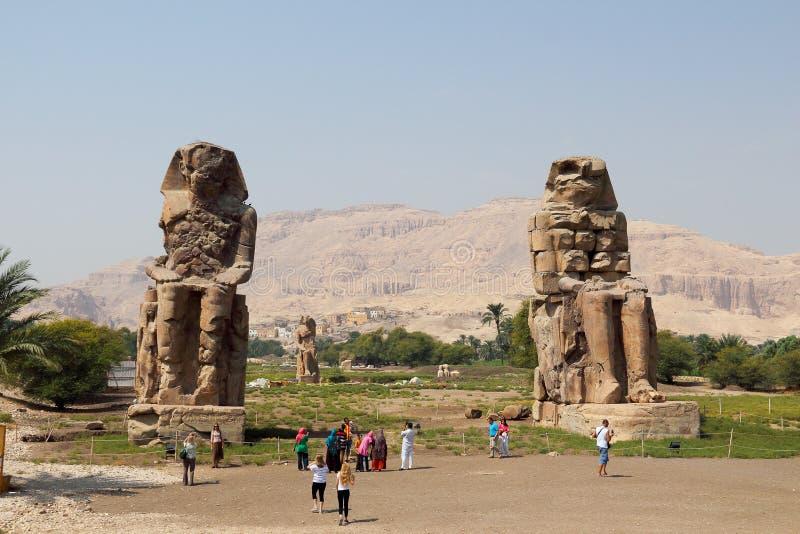 Kolossen van Memnon royalty-vrije stock afbeeldingen