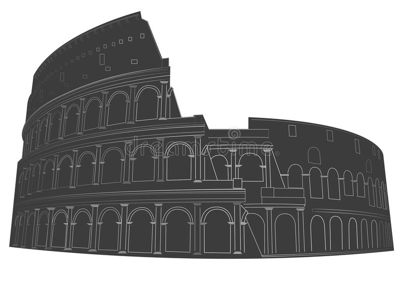 Kolosseum stock abbildung