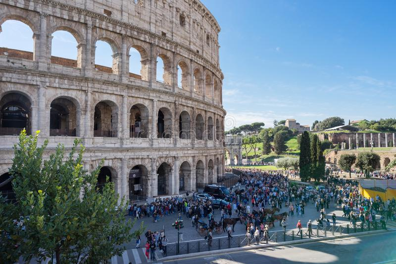 Kolosseum i Rom arkivbild