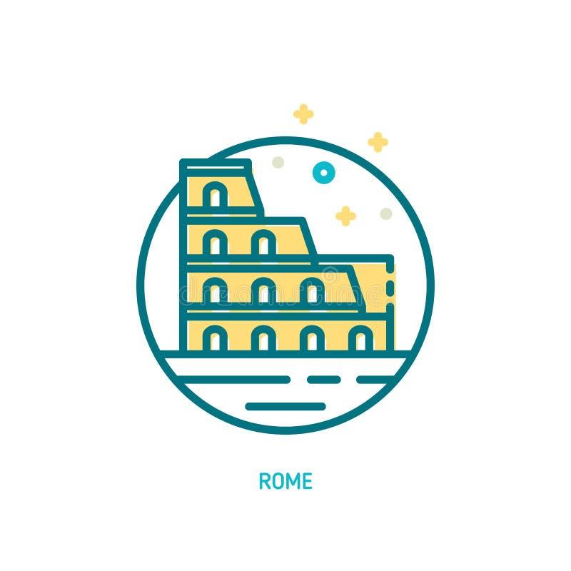 Kolosseum ikona ilustracji