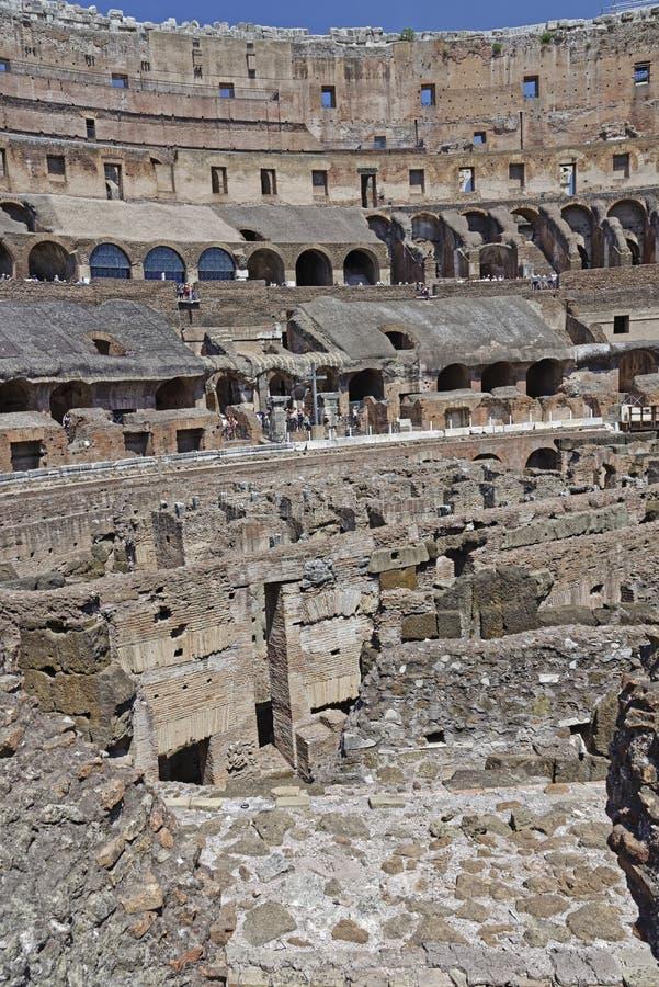 Kolosseumu wnętrze obraz royalty free