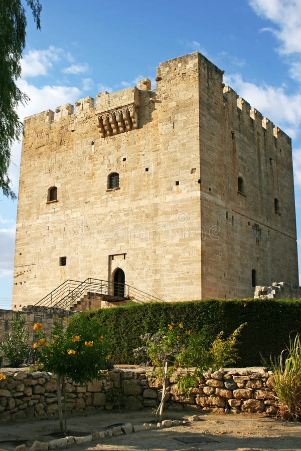 Kolossi castle in Cyprus royalty free stock images