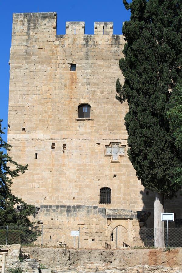 Kolossi Middeleeuws Kasteel in Cyprus stock afbeelding