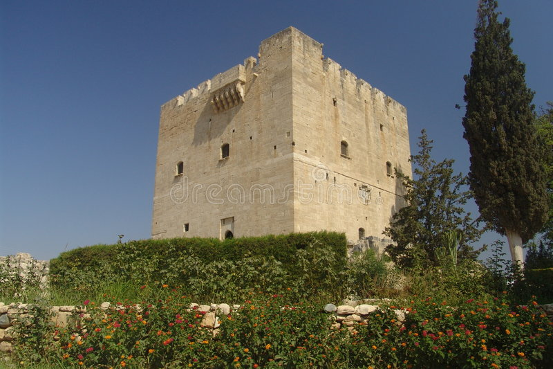 kolossi zamek krzyżowa fotografia stock