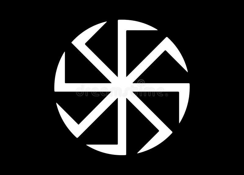 Kolovrat, le svastika ou le sauwastika est une figure g?om?trique et une ic?ne religieuse antique dans les cultures de l'Eurasie illustration stock