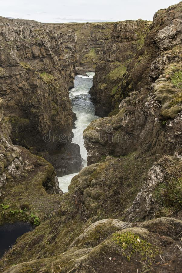 Kolugljufur Canyon royalty free stock photo