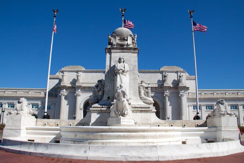 Kolumb fontanna zdjęcie royalty free