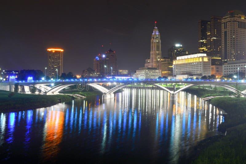 Kolumb, Ohio Sierpień 28, 2016: - usa - W centrum Kolumb Ohio linia horyzontu od genua parka fotografia royalty free