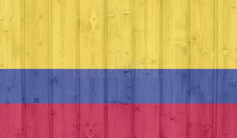 Kolumbia flaga royalty ilustracja