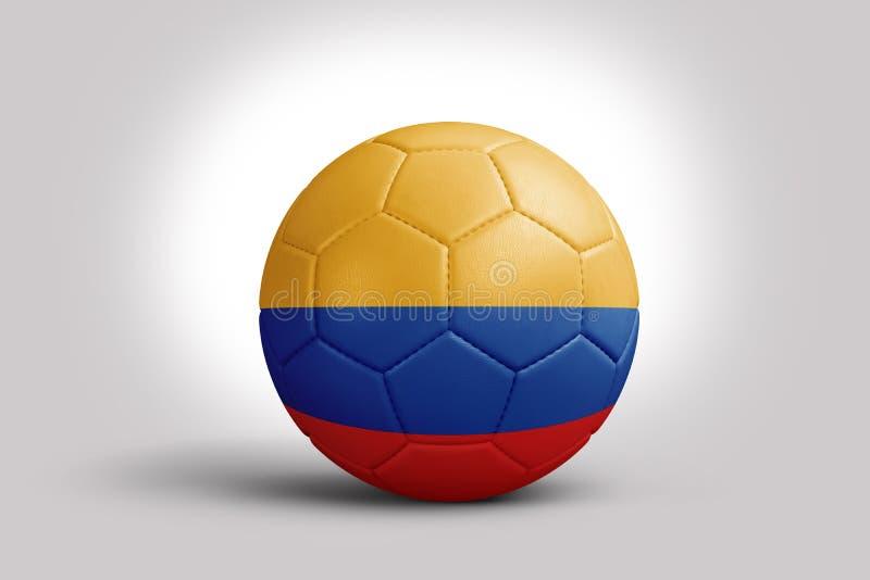 Kolumbia flaga na pi?ce, 3d rendering Pi?ki no?nej pi?ka w 3d ilustracji ilustracji