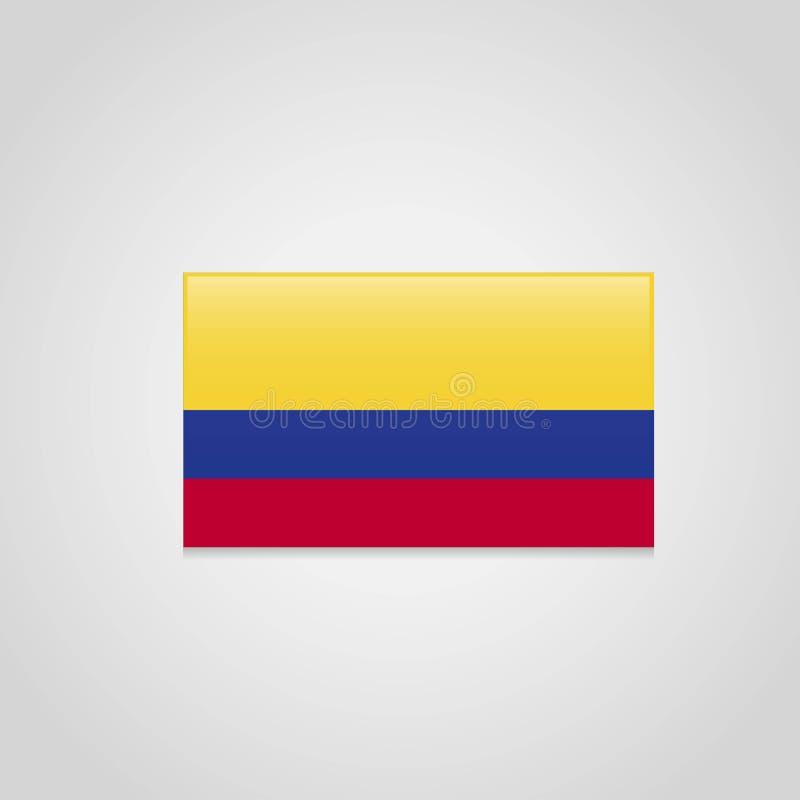 Kolumbia flagi projekta wektor ilustracji
