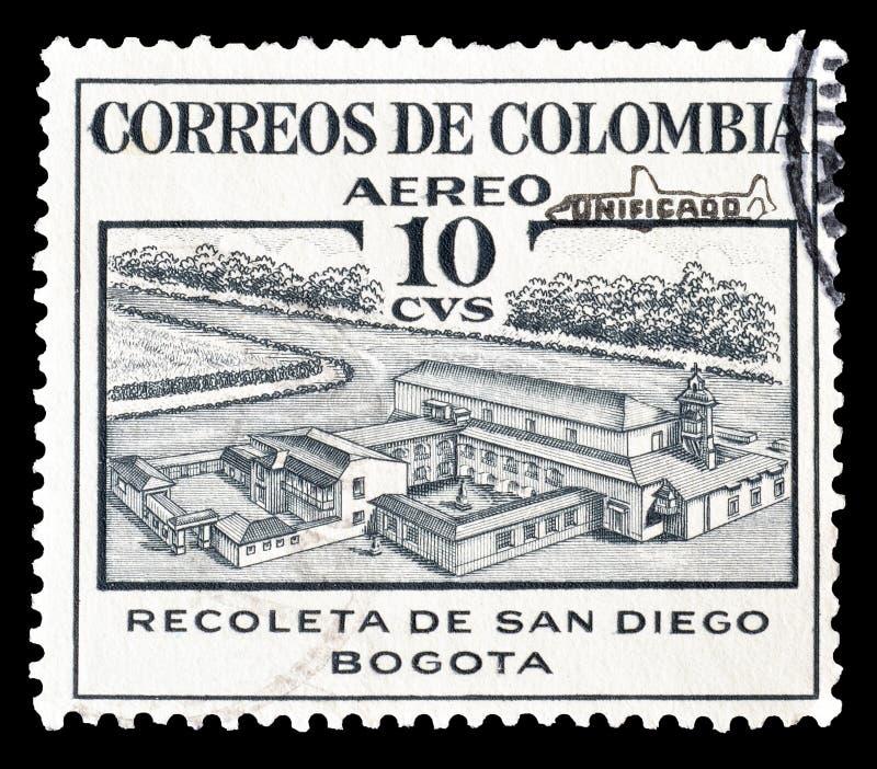 Kolumbia na znaczkach pocztowych zdjęcia stock