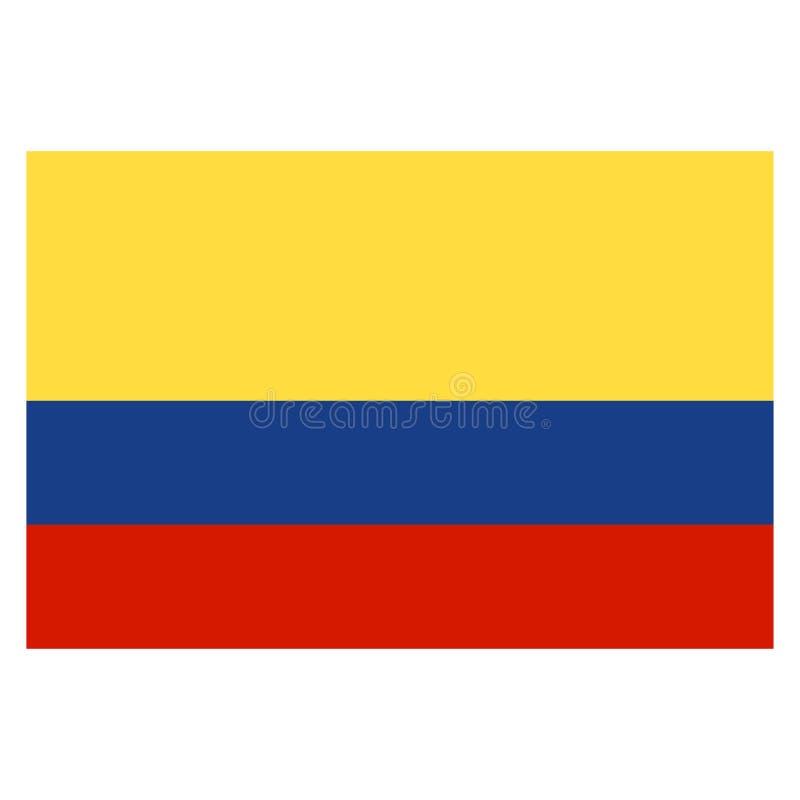 Kolumbia obywatel również zwrócić corel ilustracji wektora royalty ilustracja