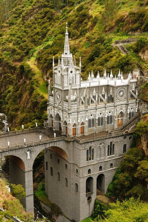 Kolumbia, Sanktuarium Dziewica Las Lajas obrazy stock