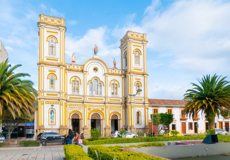 Kolumbia Sogamoso Saint Martin wycieczka turysyczna katedralny panoramiczny widok fotografia royalty free