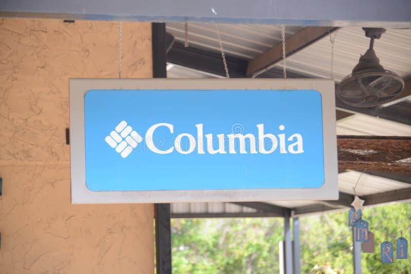 Kolumbia Sportswear Firma zdjęcia stock