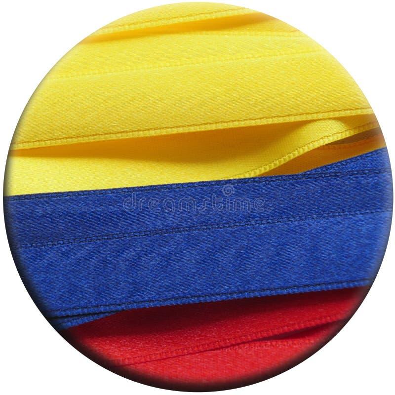 Kolumbia sztandar lub flaga fotografia stock