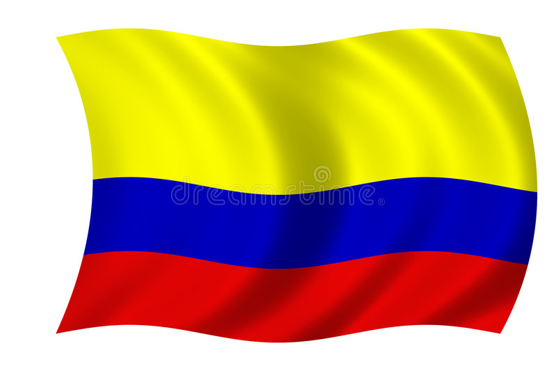 kolumbianische Markierungsfahne stock abbildung