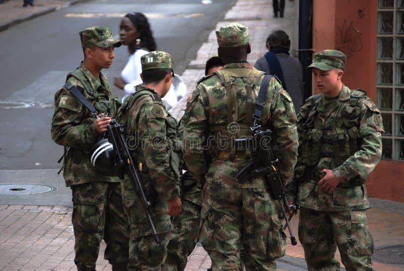 Kolumbianische Soldaten stockfoto