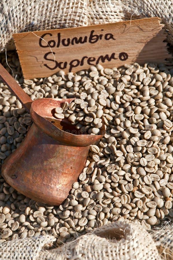 Kolumbien-Kaffee stockfotografie
