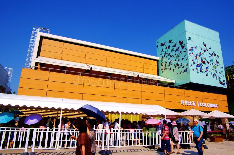 Kolumbien-Pavillion in Expo2010 Shanghai China lizenzfreie stockbilder