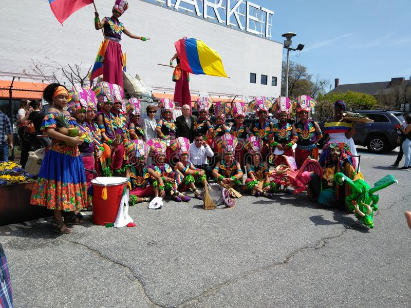 Kolumbien-Tagesparade lizenzfreie stockfotos