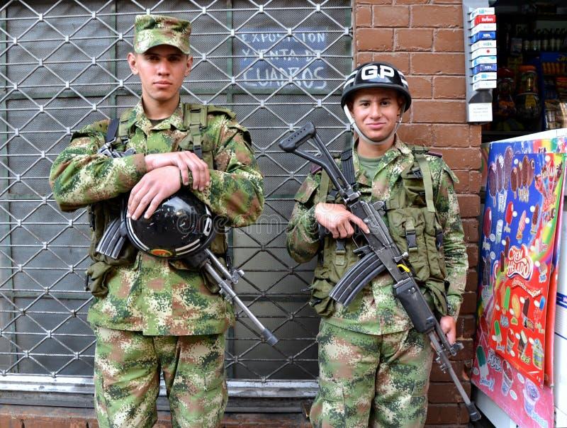 Kolumbijscy Żołnierze obrazy royalty free