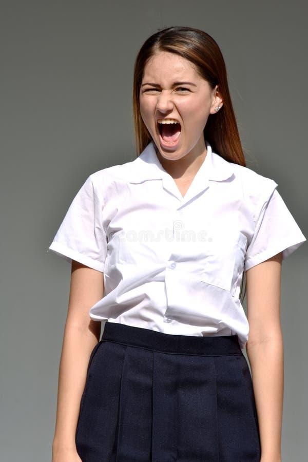 Kolumbijska Żeńska Rozkrzyczana Jest ubranym spódnica obraz stock