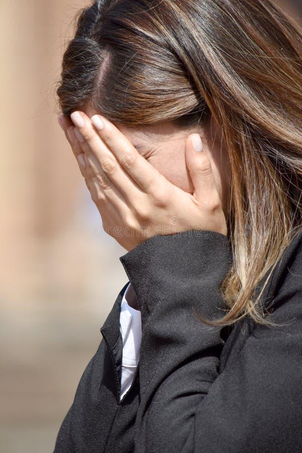 Kolumbijska Biznesowa kobieta I beznadziejność zdjęcie stock