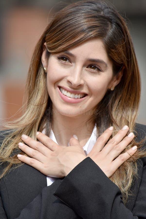 Kolumbijska Biznesowa kobieta I nadzieja obraz royalty free