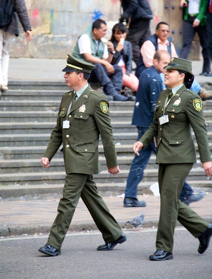 Kolumbijska policja narodowa obrazy stock