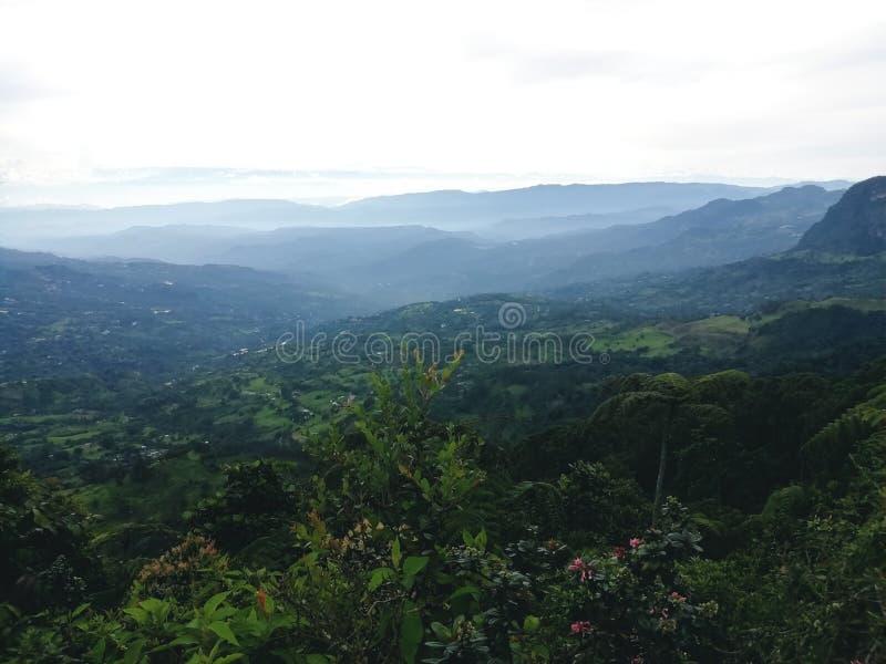 Kolumbijski krajobrazowy Chicaque naturalny park zdjęcie stock