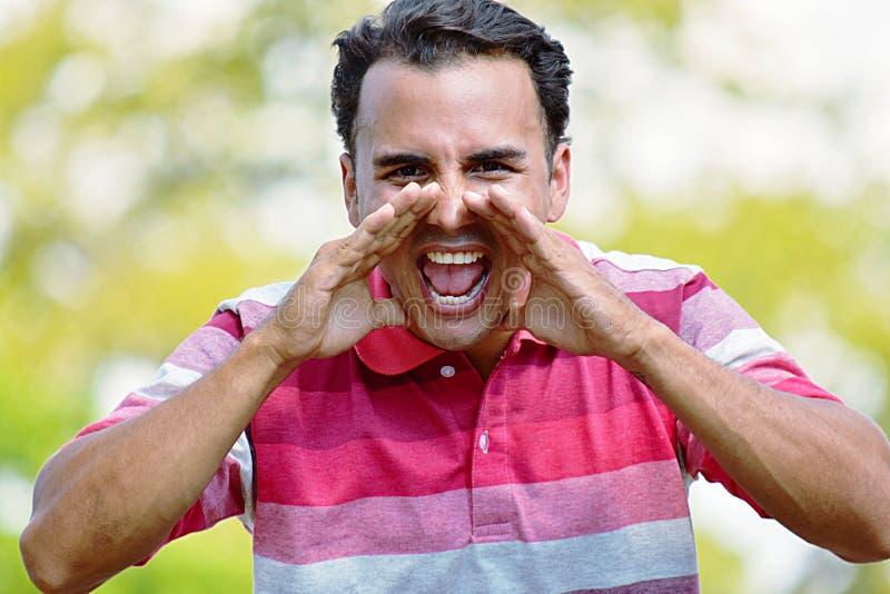 Kolumbijski Męski Krzyczeć zdjęcie stock