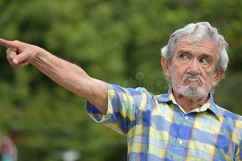 Kolumbijski samiec Wskazywać obraz stock