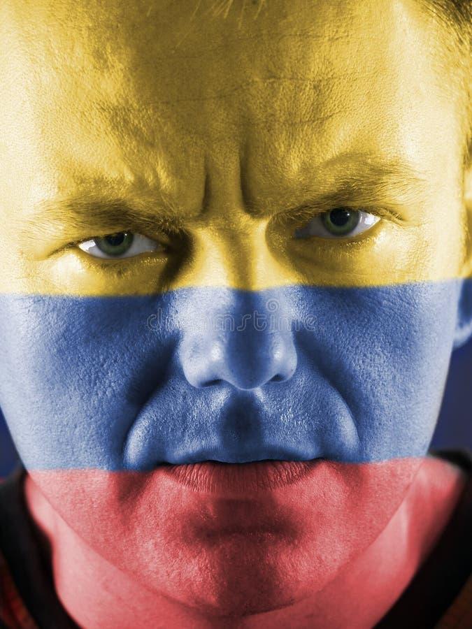 Kolumbijski zwolennik zdjęcie stock