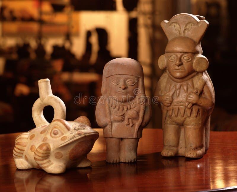 kolumbijskie garncarstwo inków pre zdjęcie stock