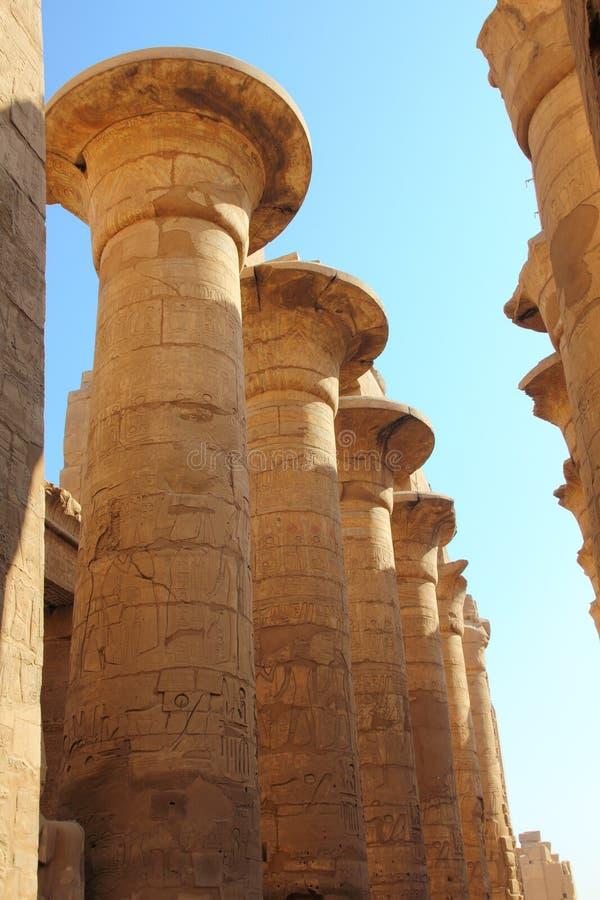 kolumn karnak świątynia fotografia royalty free
