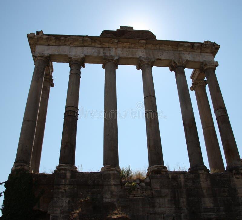 kolumn Rome Saturn świątynia zdjęcie royalty free