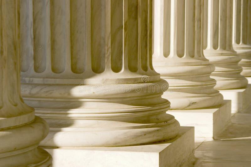 kolumn zamkniętych filary, obraz stock