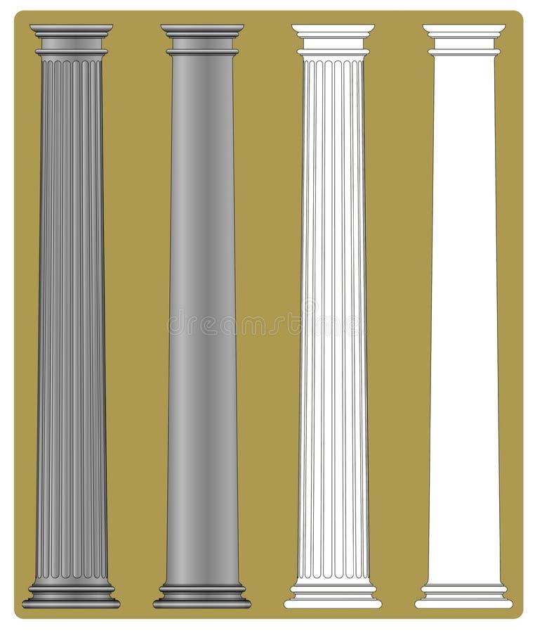 kolumna doric royalty ilustracja