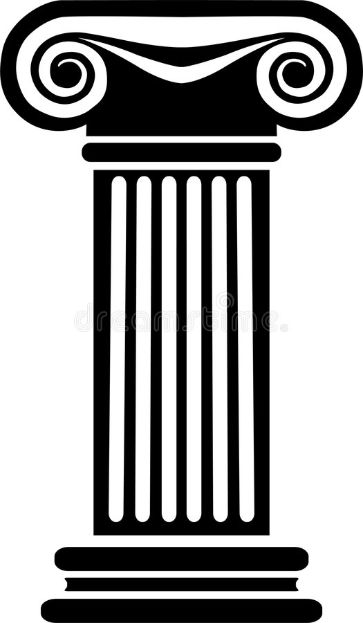 kolumna eps greka ilustracja wektor