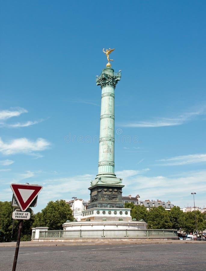 Kolumna Lipiec i krasnoludkowie Bastille Paryż Francja obraz royalty free